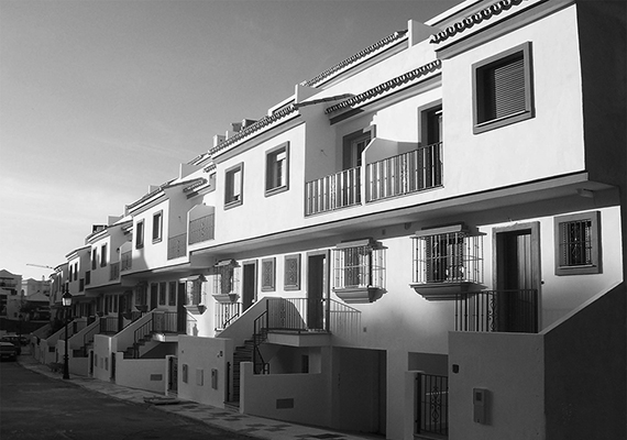 Attached housing near the football field, Estepona