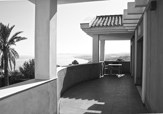 View of the balcony, from a Villa in Estepona