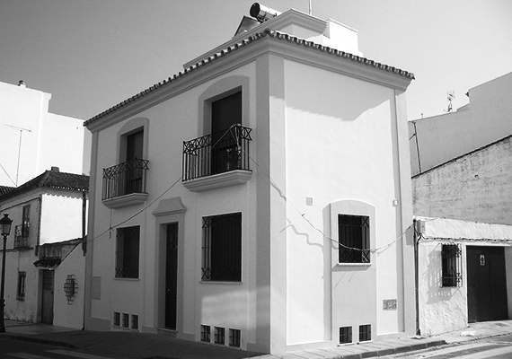 Individual housing built in the old zone of Estepona, photos taken during the construction.